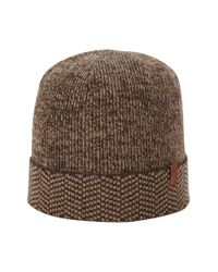 Ben Sherman - Black Chevron Knit Cap for Men - Lyst