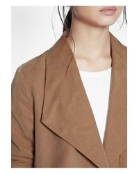 French Connection | Brown Runaway Drape Maxi Coat | Lyst