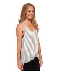 Beyond Yoga | Natural Draped Open Back Tank Top | Lyst
