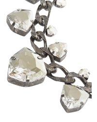 Lanvin | Metallic Crystal Embellished Necklace | Lyst