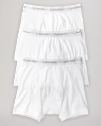 Calvin Klein - White Cotton Classics Boxer Briefs, Pack Of 3 for Men - Lyst