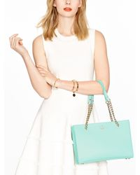 Kate Spade | Blue Emerson Place Smooth Small Phoebe | Lyst