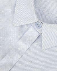 Ted Baker | Blue Striped Cotton Shirt | Lyst