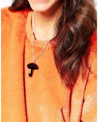 Tatty Devine - Black Umbrella Necklace - Lyst