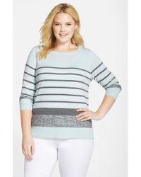 Halogen | Blue Side Zip Pullover | Lyst