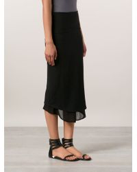 Transit - Black Chiffon Layer Skirt - Lyst