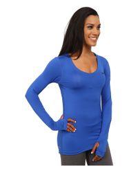 Nike - Blue Pro Long-sleeve - Lyst