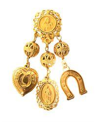 Dolce & Gabbana - Metallic Multicharm Earrings - Lyst