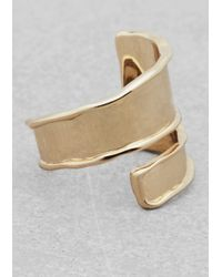 & Other Stories - Metallic Wraparound Ring - Lyst