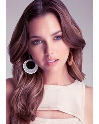 Bebe - Metallic Cutout Geo Glitter Earrings - Lyst