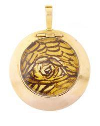 Annina Vogel - Metallic Gold Hermes Bird Locket - Lyst