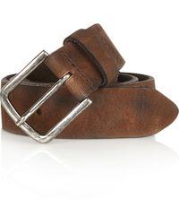 River Island - Dark Brown Nubuck Leather Belt for Men - Lyst
