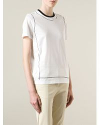Reed Krakoff - White Graphic Print T-Shirt - Lyst