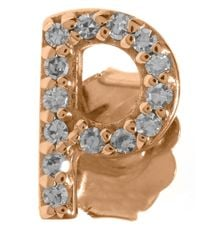 KC Designs | Pink Rose Gold Diamond P Single Stud Earring | Lyst