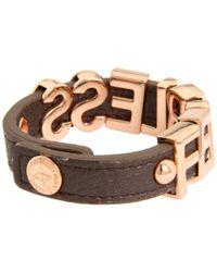 BCBGeneration - Multicolor Gunmetal and Rose Gold Fearless Smooth Affirmaition Bracelet - Lyst