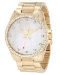 Juicy Couture - Metallic Ladies Mother-Of-Pearl And Crystal Bezel Watch - Lyst