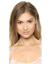 Sarah Chloe | Metallic Small Diamond Heartbeat Necklace - Clear/gold | Lyst