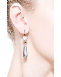 Monique Péan - Blue Fossilized Walrus and Opal Drop Earrings - Lyst