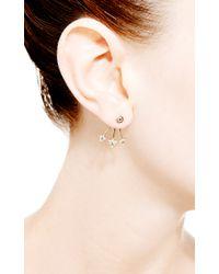 Janis Savitt | Metallic Triple Triangle Stud Earring | Lyst