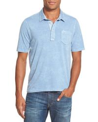 Tommy Bahama | Blue 'hi Line Hibiscus' Jersey Polo for Men | Lyst