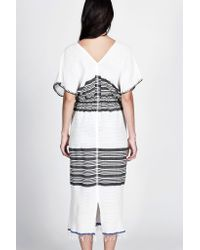 lemlem | White Safara Patio Dress | Lyst