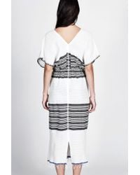 lemlem - White Safara Patio Dress - Lyst
