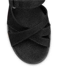Aerosoles | Black Cross Strap Slingback Sandals | Lyst
