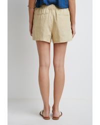 Forever 21 | White Contemporary Linen Drawstring Shorts | Lyst