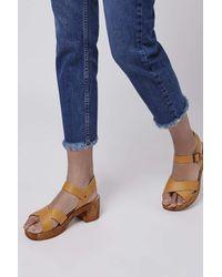 TOPSHOP - Yellow Hawaii Sandals - Lyst