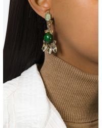 Marni | Green Embellished Clip-on Earrings | Lyst