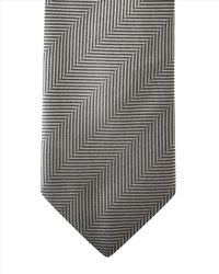 Jaeger - Gray Prince Of Wales Modern Tie for Men - Lyst