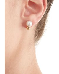 Sophie Bille Brahe - White 14kt Gold Earrings With Fresh Water Pearls - Lyst