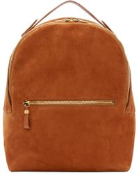 Sophie Hulme - Brown Tan Suede Wilson Backpack - Lyst