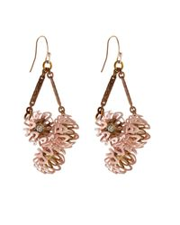 Lulu Frost | Pink Vivien Peony Drop Earrings | Lyst