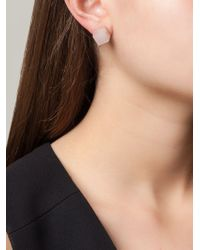 Vita Fede | Pink Square Pearl Earrings | Lyst