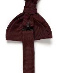 Lanvin - Red Grosgrain Bow Tie for Men - Lyst