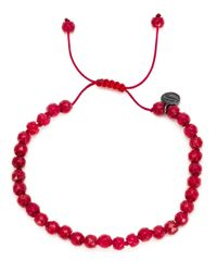 Joseph Brooks | Red Coral Beaded Bracelet for Men | Lyst