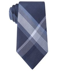 Kenneth Cole Reaction | Blue Skyline Plaid Tie for Men | Lyst