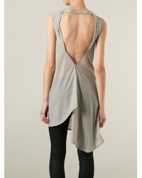 Rick Owens - Natural 'Wishbone' Top - Lyst