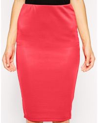 AX Paris | Red Pencil Skirt | Lyst