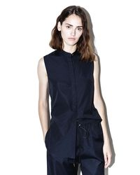 3.1 Phillip Lim   Blue Sleeveless Knotted-back Top   Lyst
