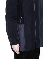 3.1 Phillip Lim - Black Embroidered Mixed-canvas Tunic for Men - Lyst