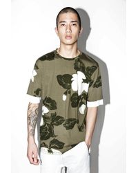 3.1 Phillip Lim | Green Printed Double-sleeve T-shirt for Men | Lyst