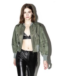 3.1 Phillip Lim | Multicolor Cropped Bomber Jacket | Lyst
