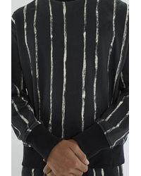 3.1 Phillip Lim - Black Painted-stripe Sweatshirt for Men - Lyst