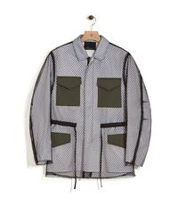 3.1 Phillip Lim - White Mesh Field Jacket for Men - Lyst