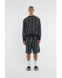 3.1 Phillip Lim - Black Painted-stripe Sweatshirt for Men - Lyst