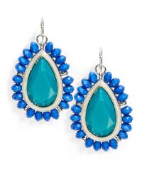 Catherine Stein | Blue Beaded Teardrop Earrings | Lyst