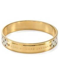 Marc By Marc Jacobs - Metallic Block Print Bangle - Lyst