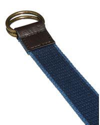 ASOS | Blue Web D Ring Belt for Men | Lyst